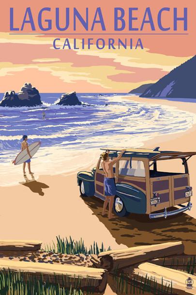 Laguna Beach Woody Car Coaster