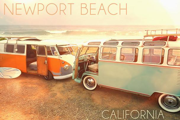 Newport Beach Vans Car Coaster