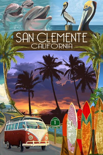 San Clemente Montage Car Coaster