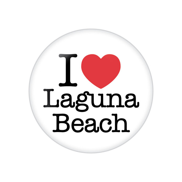 I Heart Laguna Beach Button
