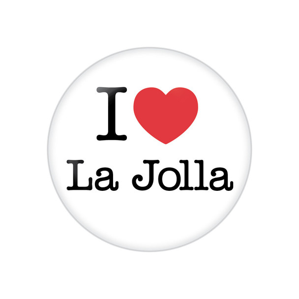 I Heart La Jolla Button