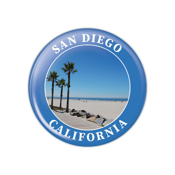 San Diego Palm Trees Button