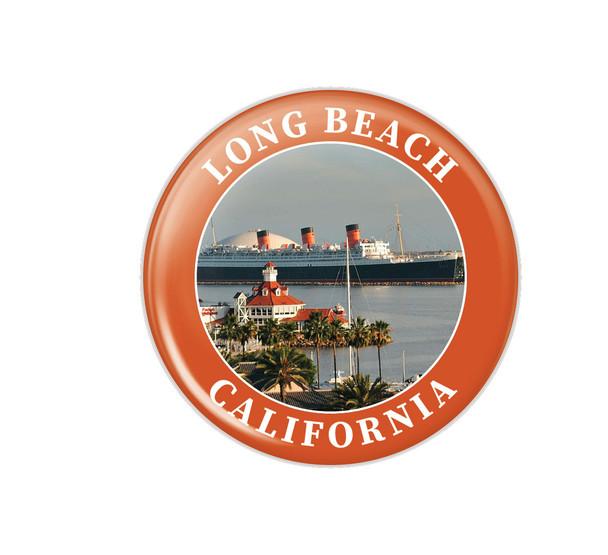 Long Beach Queen Mary Button