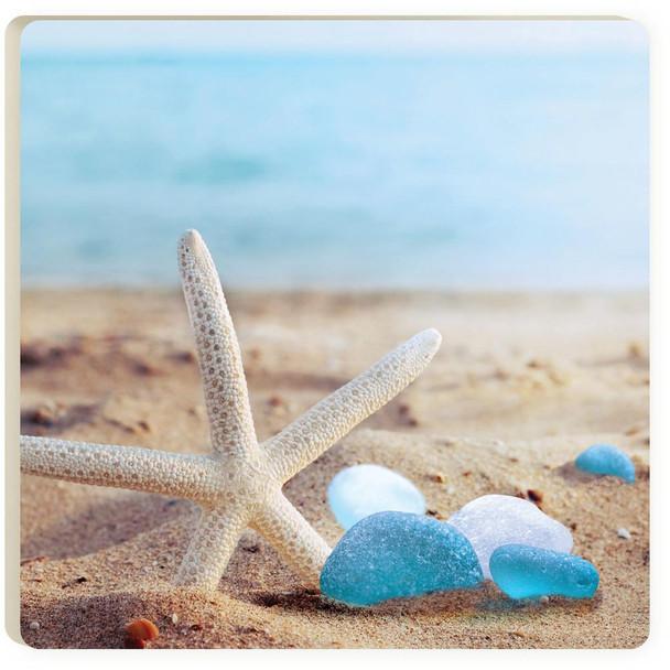 Sea Glass Starfish Coaster