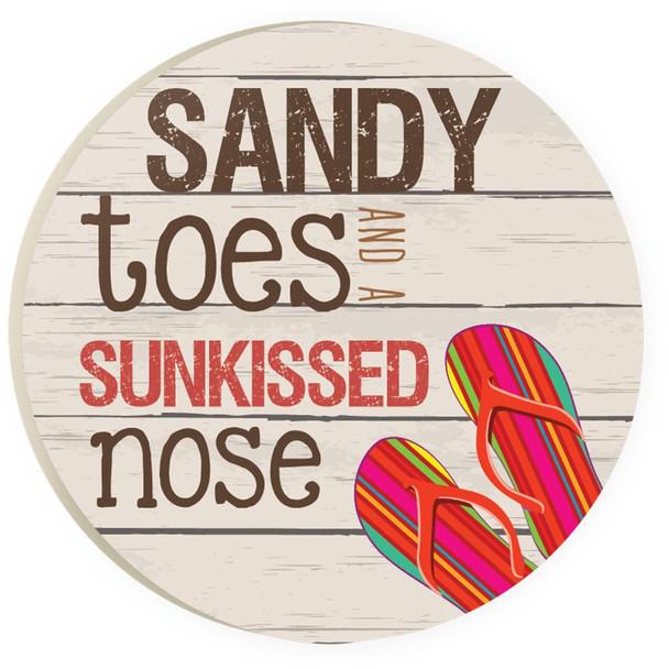 Sandy Toes Flip Flop Car Coaster