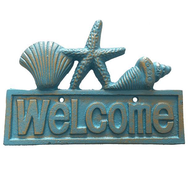 Seashell Welcome Plaque
