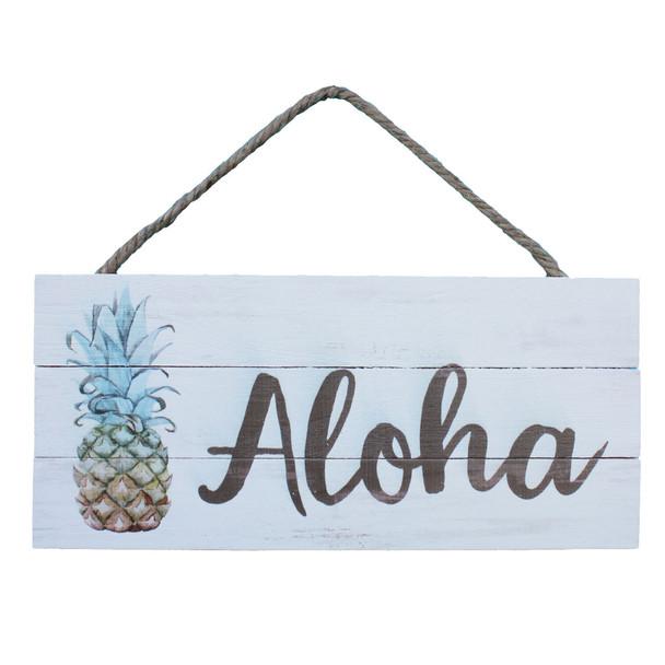 Aloha Pineapple Rope Sign