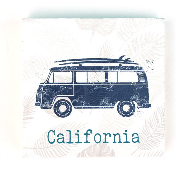 Blue VW Bus Chunky Sign