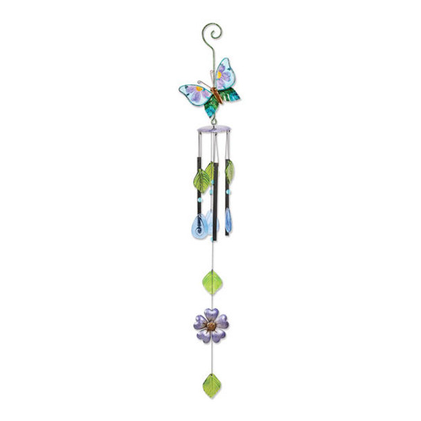 Butterfly Metal & Glass Chime