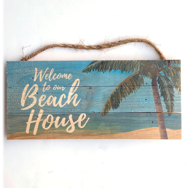 Welcome to the Beach Rope Sign