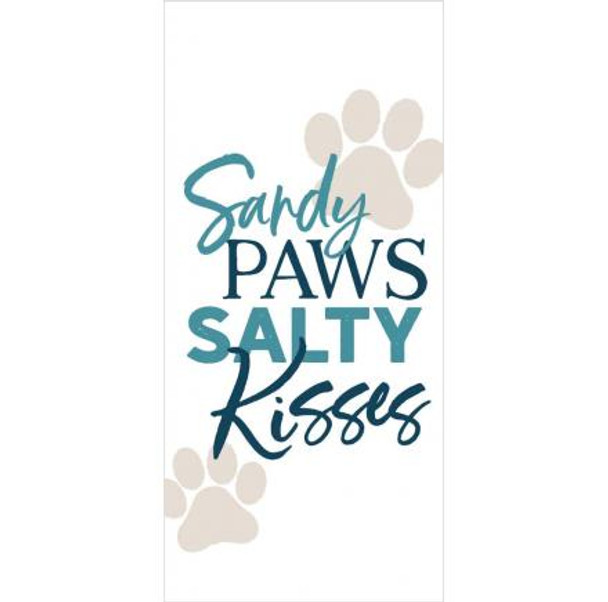 Sandy Paws Salty Kisses Tabletop Block Sign