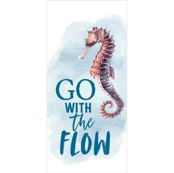 Go with the Flow Seahorse Tabletop Block Sign