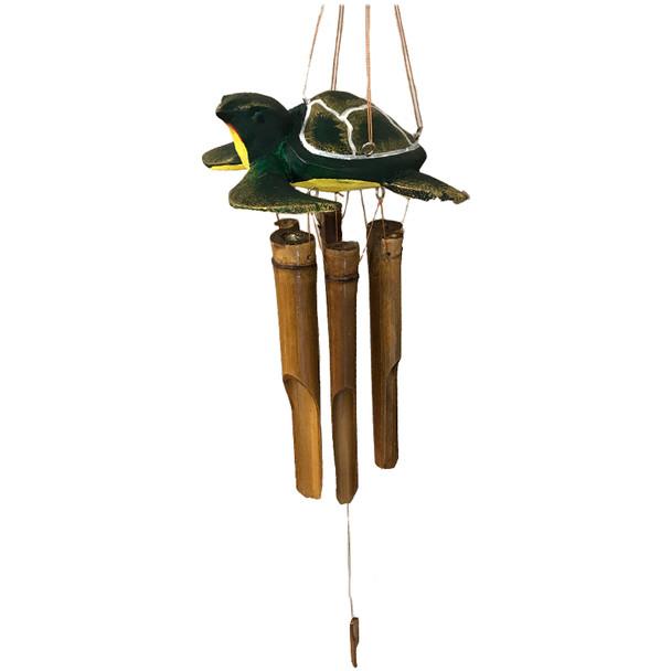 Green Sea Turtle Bamboo Wind Chime