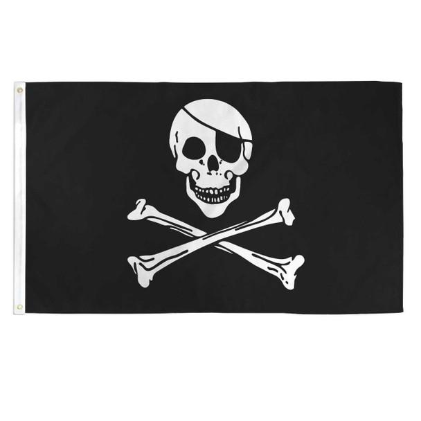 Pirate Skull and Cross Bones Flag