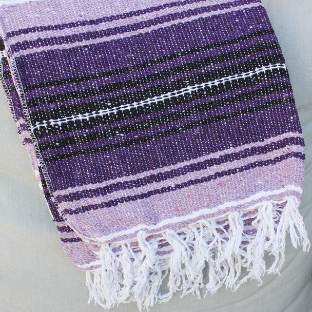 Purple Baja Blanket