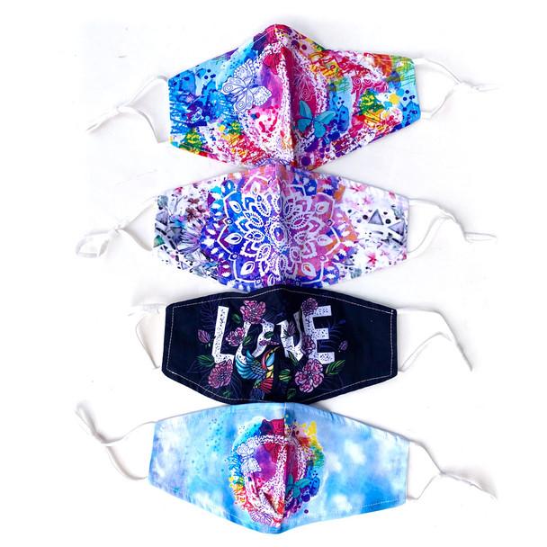 Peace Love Mandala Masks