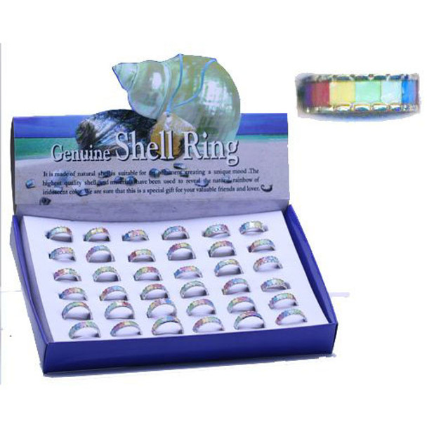 Rainbow Mother of Pearl Rings