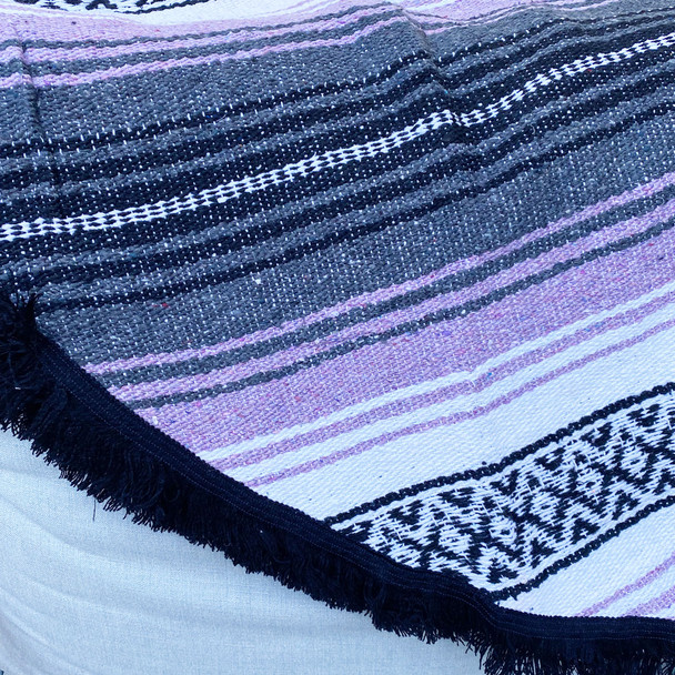 Purple Round Mexican Flasa Blanket