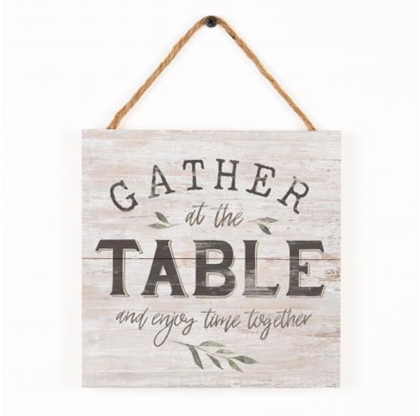 Gather at the Table Rope Sign