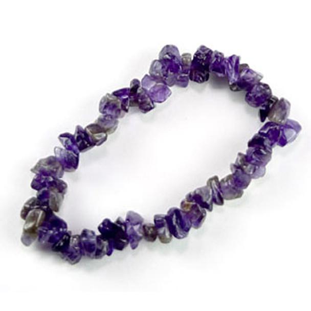 Amethyst Chip Gemstone Bracelet
