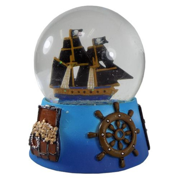 Pirate Ship Snow Globe