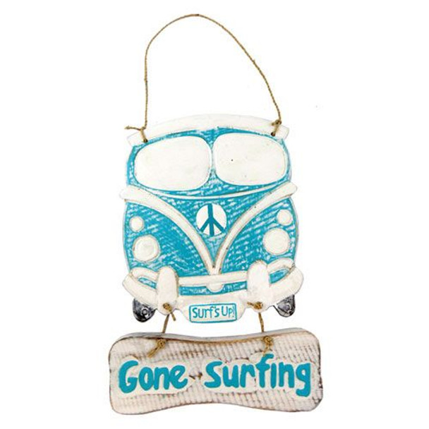 Gone Surfing VW Bus Sign