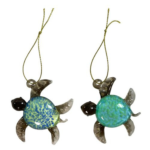 Glass Turtle Ornaments