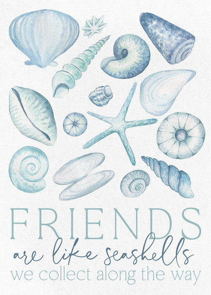 Friends are like seashells we collect long the way.