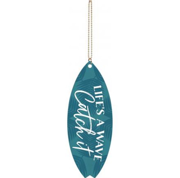 Life's a Wave Catch It Surfboard Charm