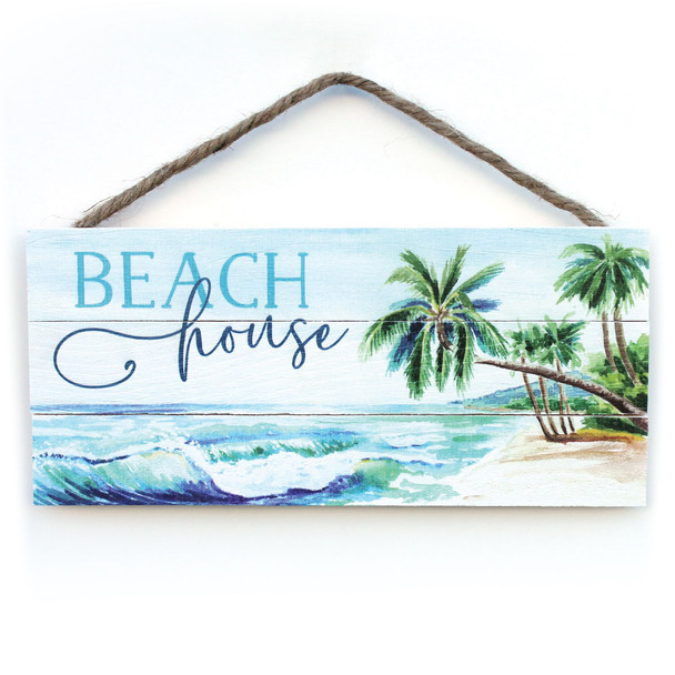 Beach House Rope Sign