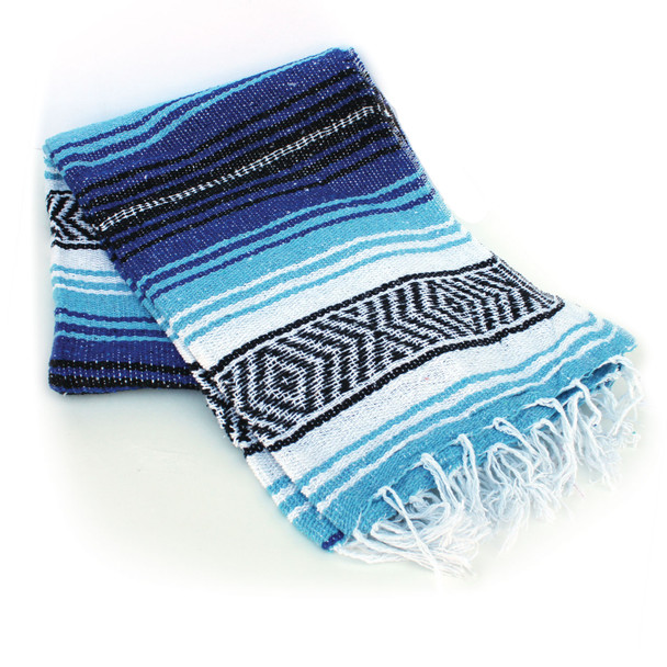 Cobalt And Light Blue Beach Blanket