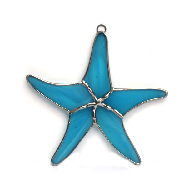 Blue Starfish Stained Glass