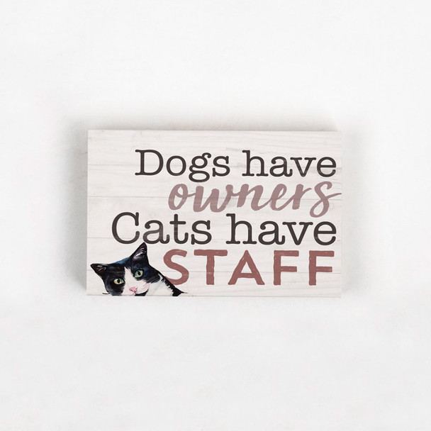 Cats Have Staff Sign