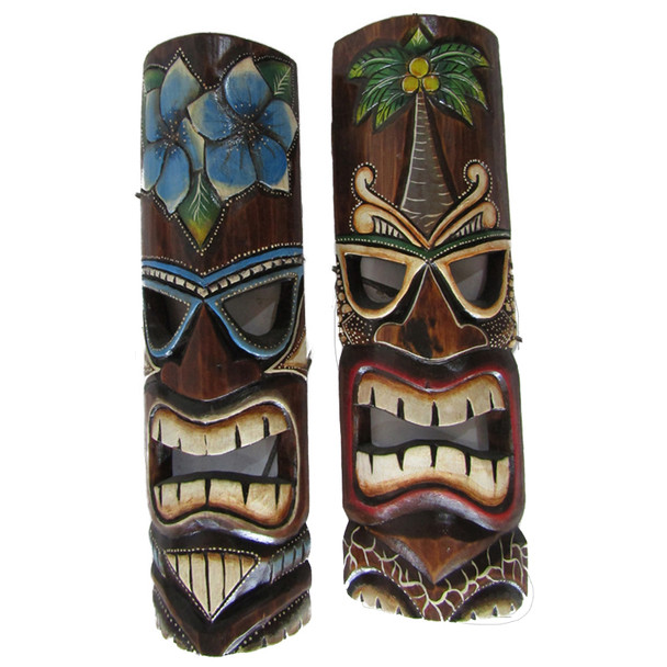 Floral Tiki Masks
