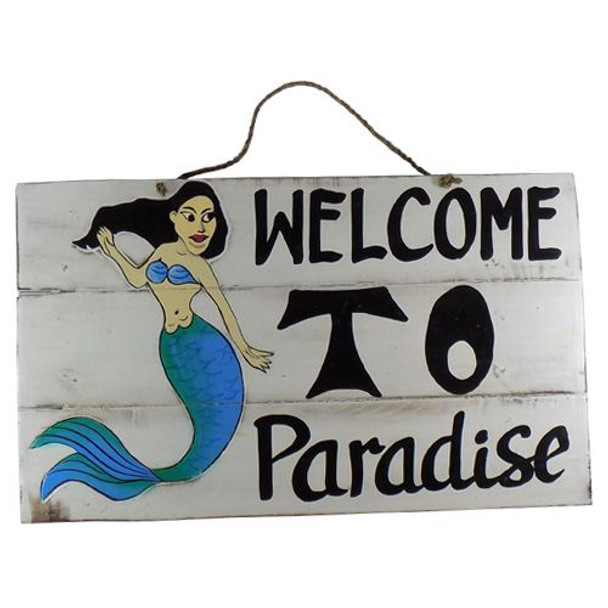 Welcome to Paradise Mermaid Sign