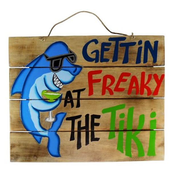 Gettin Freaky Tiki Bar Sign