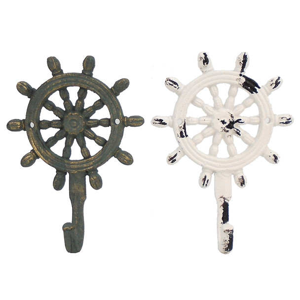 Ships Wheel Iron Hooks