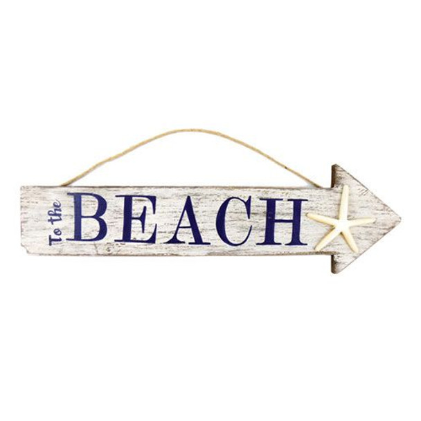 To the Beach Arrow Sign