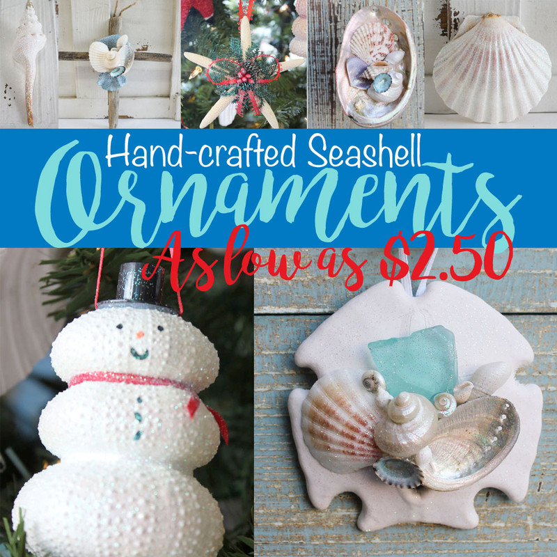 Seashell & Starfish Christmas Ornaments