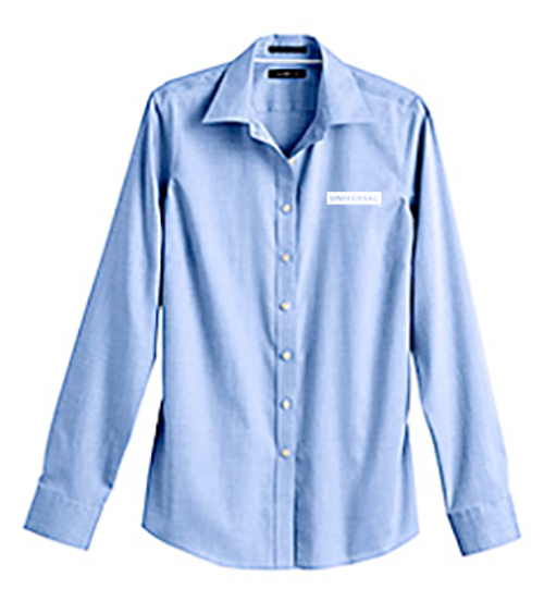 Women's Long Sleeve No Iron Pinpoint Blouse