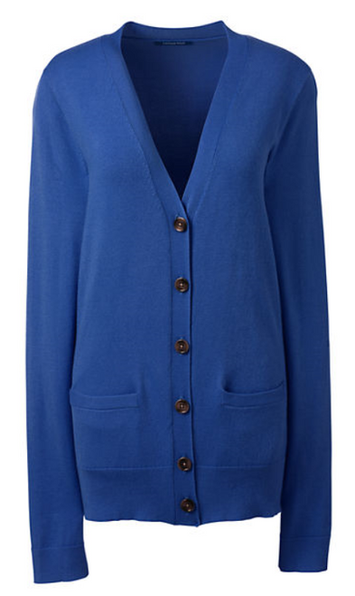 Women's Performance Long Sleeve V-neck Cardigan with Pockets - Land's End