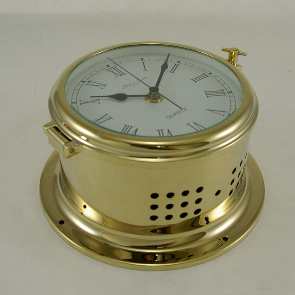 Ships Clock - Quartz - Solid Brass - H.B & Sons