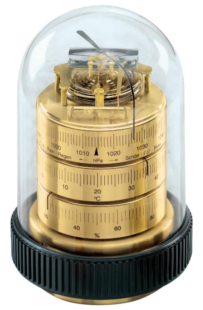 Barigo 3025 Weather Station - German Movement - Plastic base/Plexiglas Dome.Barometer.Thermometer,Hygrometer.