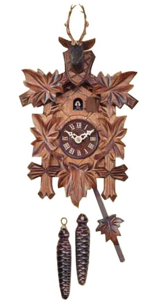 SCCBF2 Cuckoo Clock - 25cm - German Black Forest - 1 Day - Traditional Mechanical