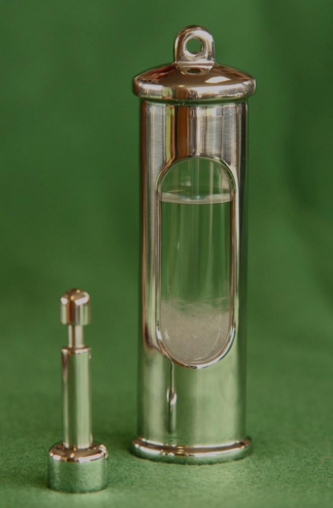 Stormglass Barometer in Stainless Steel.