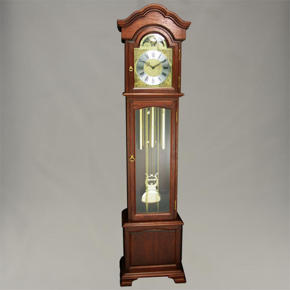 Floor Clock - 4/4 Chime - Hardwood - Mahogany Finish - HB & Sons