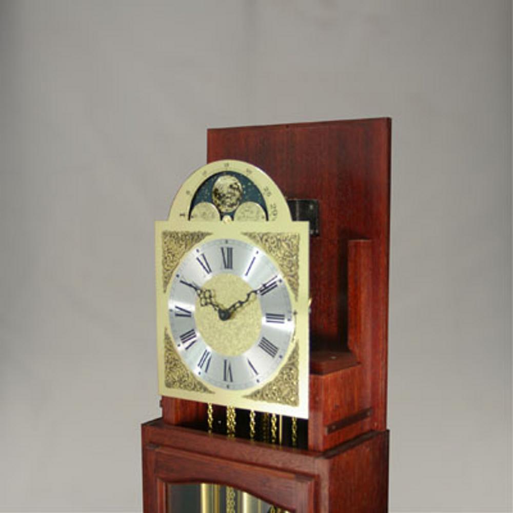 Floor Clock - 4/4 Chime - Hardwood - Mahogany Finish - HB & Sons - Top Hood Removed.