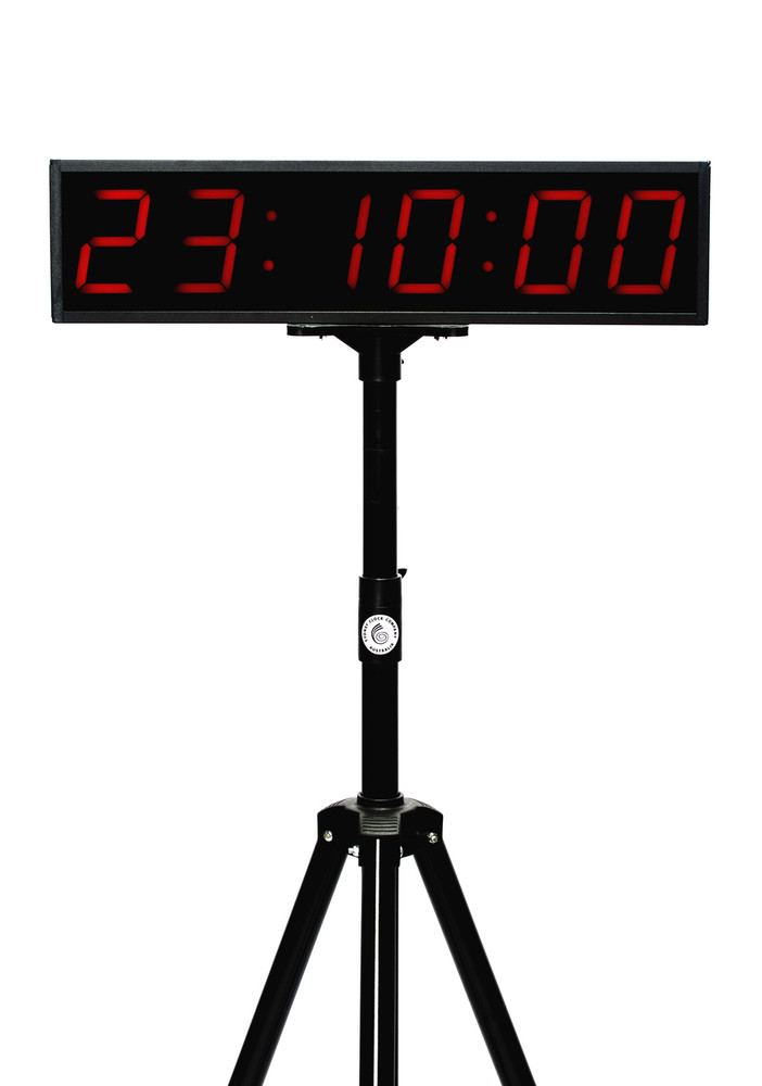 SCC20 UP/DOWN Clock and timer on tripod.
