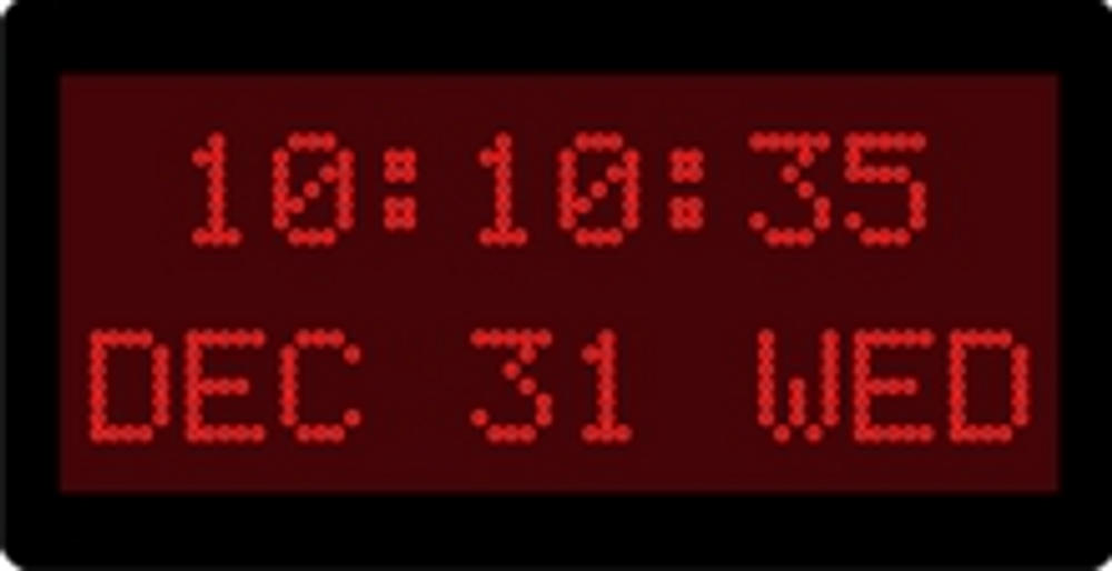 "DuraTime 10 Digit, 2 Line, 1.2"" Red Dot Matrix LED Digital Clock. Available in RED, GREEN and Blue LED. Contact us for advice and prices."