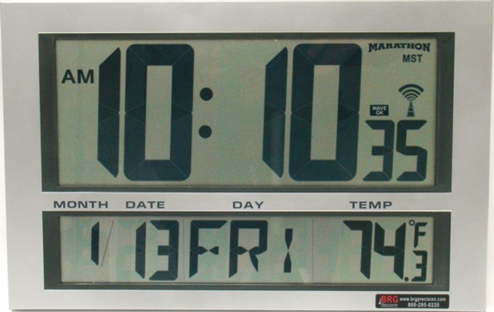 DuraTime LCD Digital Clock. Time, day,date,month,temp. Contact us for advice and prices.